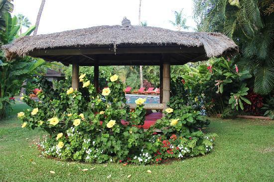 Relax in the shade of one of the 5 balinese cabanas on the property