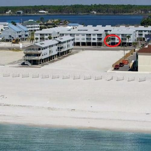 property photo- red circle is our balcony