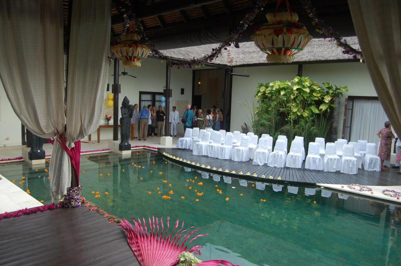 Wedding guests just arriving