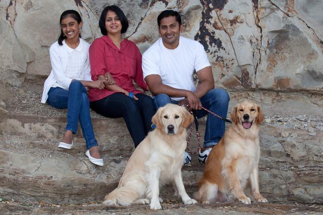 Family at Castor Bay