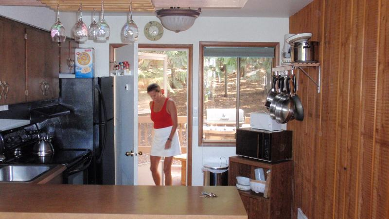 Through the Full Kitchen to the Rear Deck NEW WHITE Quartz counter tops! (not shown)