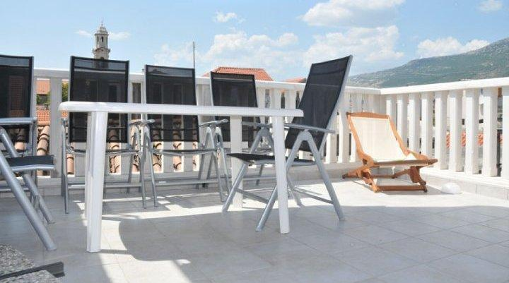 Large Roof Terrace with Table & Chairs, Brick Barbecue and Panoramic Mountain Views