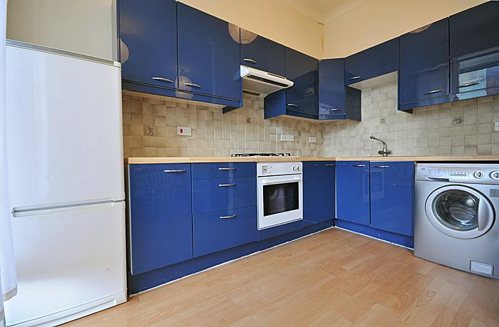 Large fully fitted kitchen with washing machine