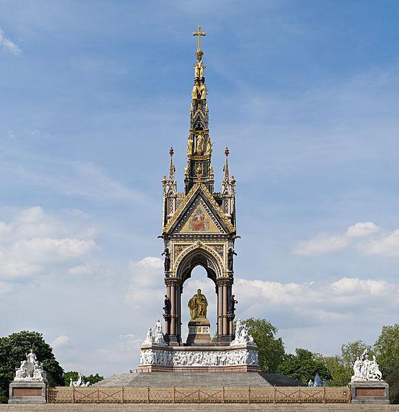 Albert Memorial in Kensington Gardens...