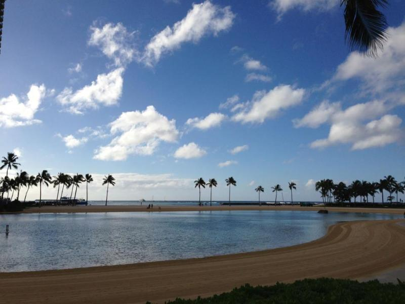 Hilton Hawaiian Village Lagoon next door