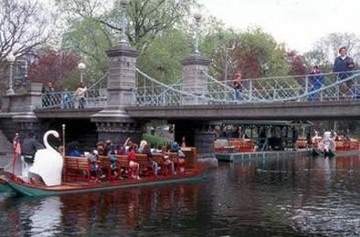 Centrally Located next to Boston Common with Gardens & Swanboat (above)