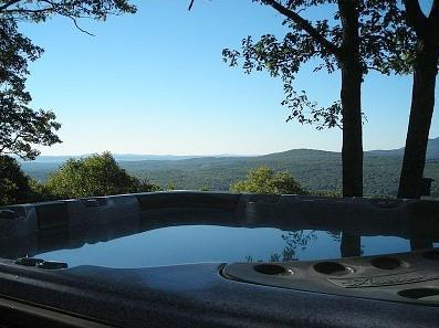 View of 6 Person Hot Tub
