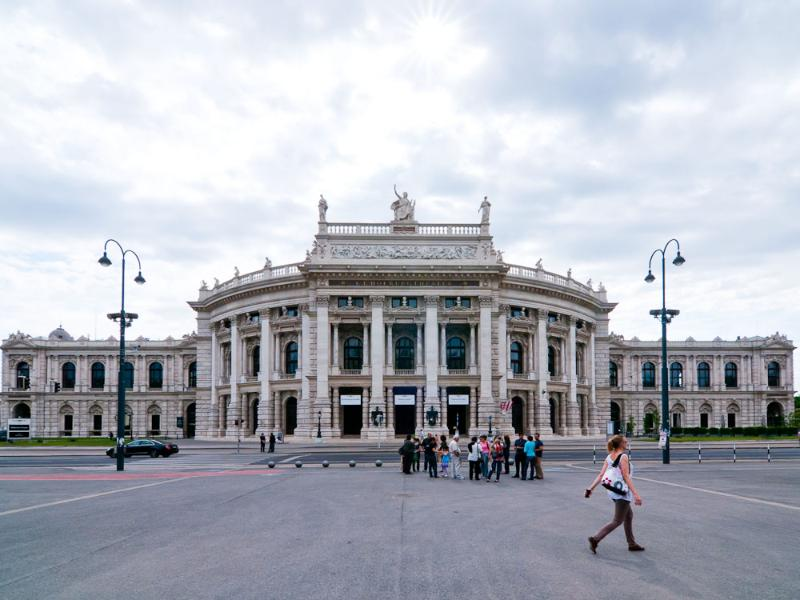 The Burgtheater on the Rink: 5 minutes walk