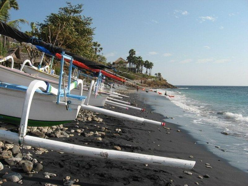 Sandy beach, not far from the villa. Rent a Jukung and make a trip along the sea!