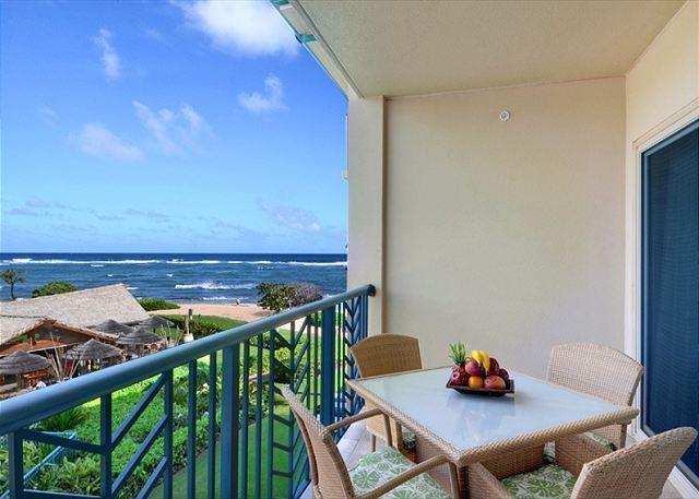 H304 - BEAUTIFUL CORNER OCEAN VIEW **AC** Resort Pool & Restaurant, holiday rental in Kauai