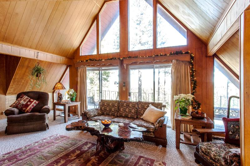 Living Room With View of Tahoe National Forest