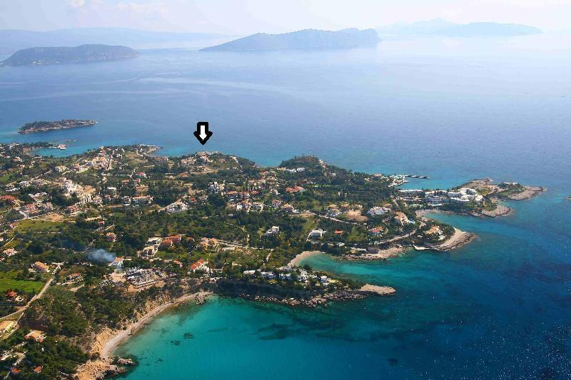 Positioning of the house in Agios Aimilianos area
