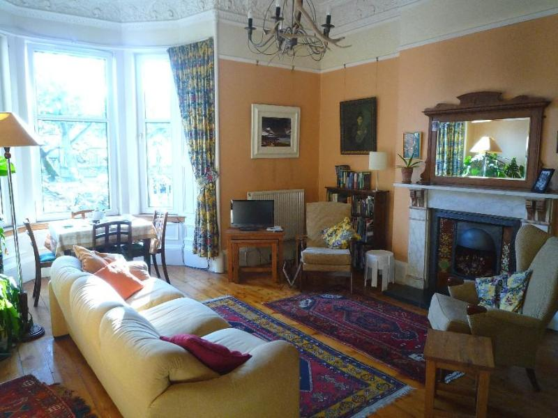 Living-room with bay window