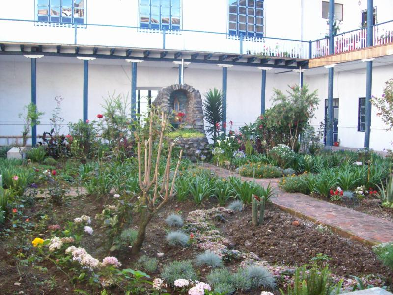 beautiful courtyard as you enter the  historic building