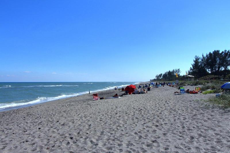 Hobe Sound public beach-- just less than 1 mile away! Lifeguards on duty during the day.