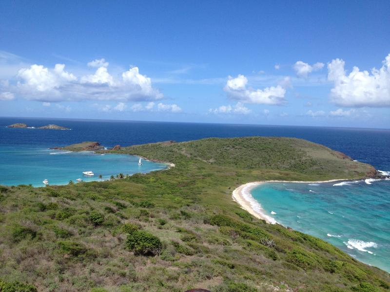 View from lighthouse on Culebrita