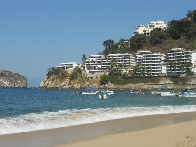 Condos seen from the beach