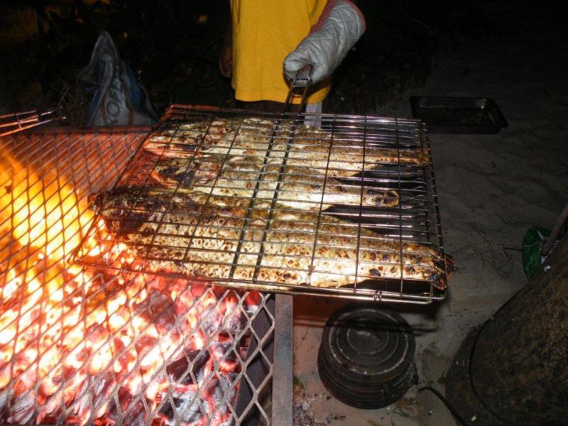 Fresh fish at the Restuarant