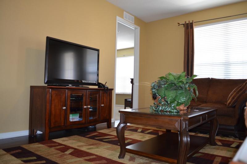 Living room with flatscreen TV & DVD player