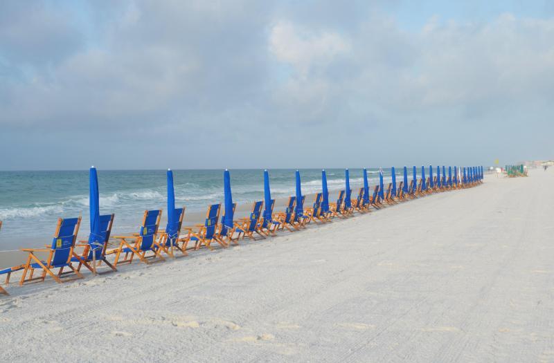 Beach service (2 chairs and 1 umbrella) during Season