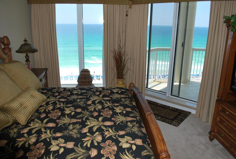 Master bedroom with King bed and view of the ocean