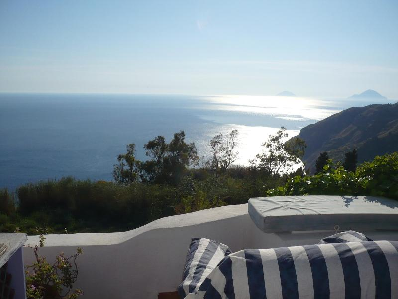 Romantic getaway cottage aeolian islands lipari with private pool, holiday rental in Aeolian Islands