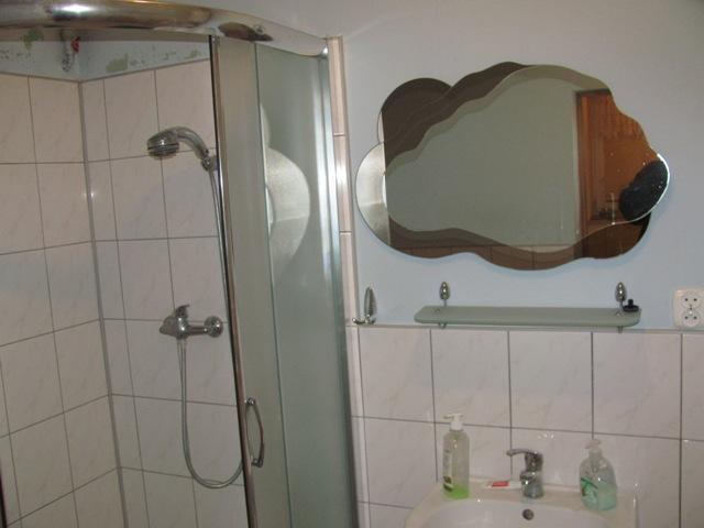 Bathroom with washer, airdryer