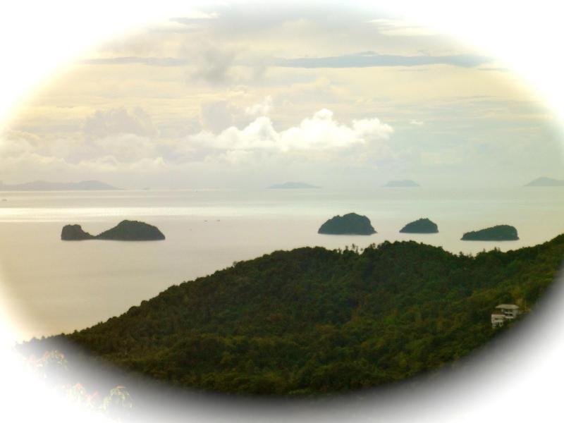 Vista das 'Cinco ilhas' acima de Villa