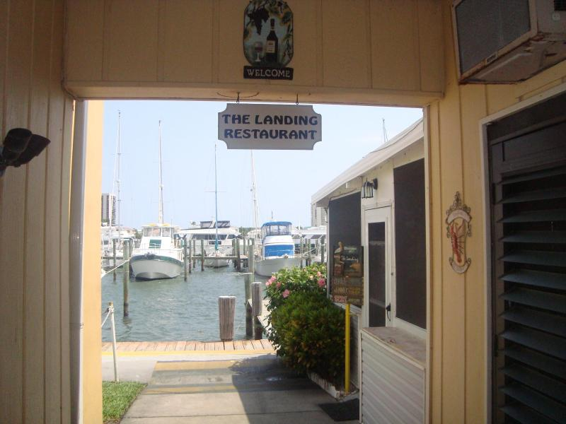 On site Landings restaurant at the Marina near the Village Grocer.