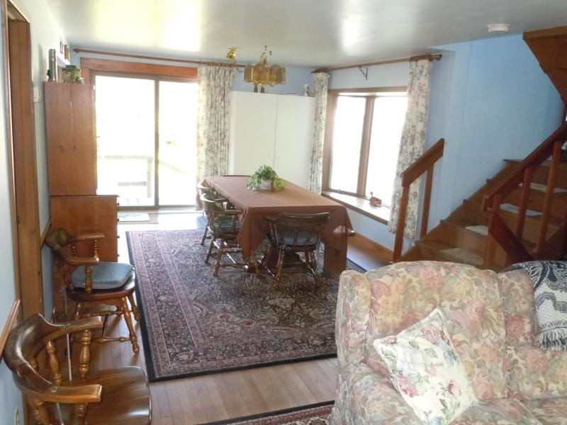 Dining room on north side of house