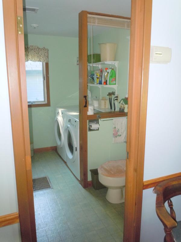 First floor bathroom and laundry