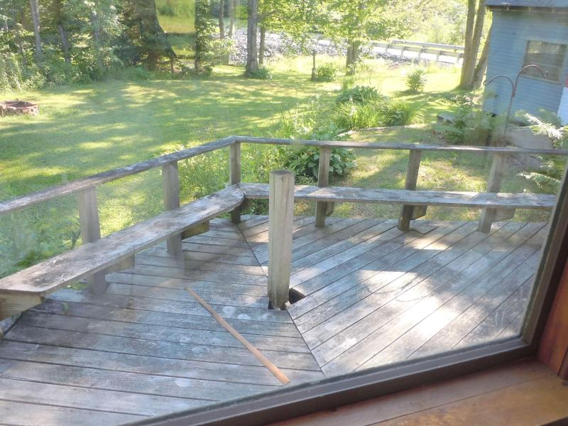 Deck on south side of house