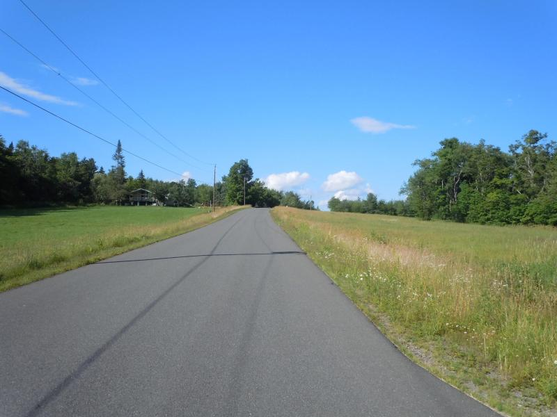View north up the road