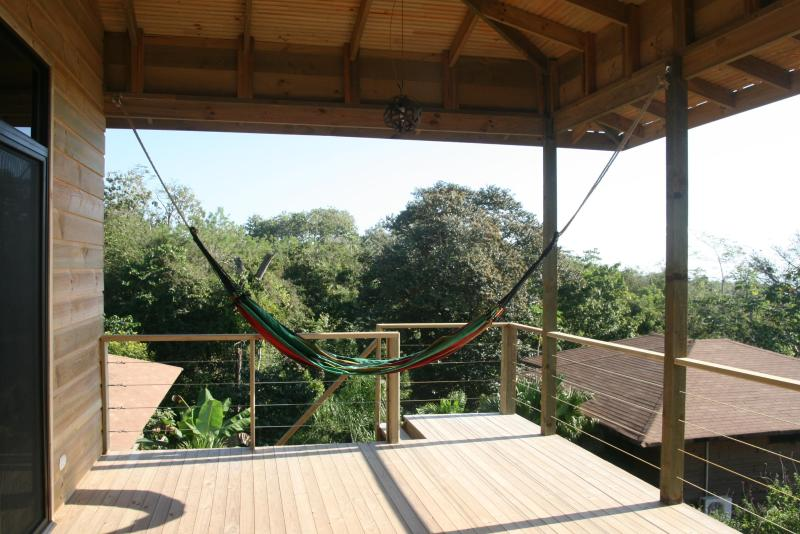 deck with the forest view