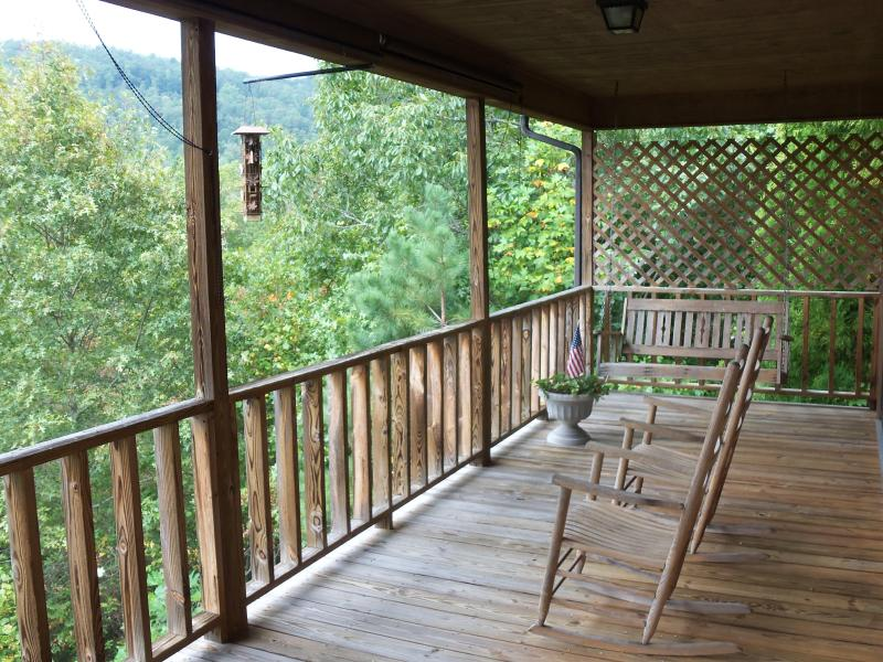 Porch with rockers, porch swing &  grill