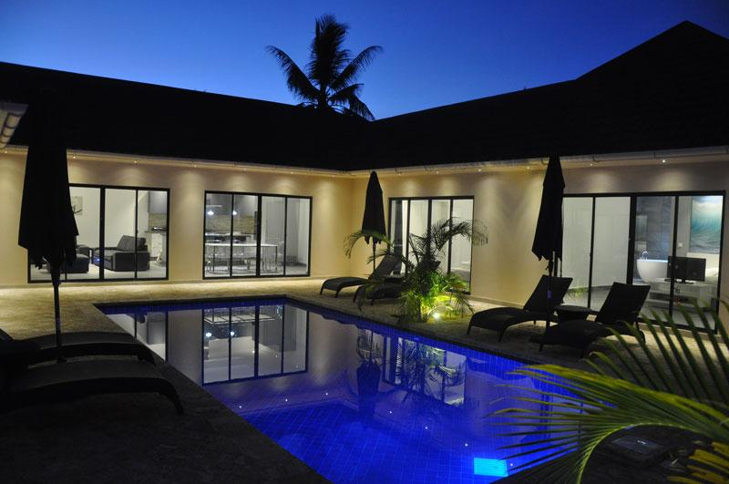 Grand Amber Villa at night