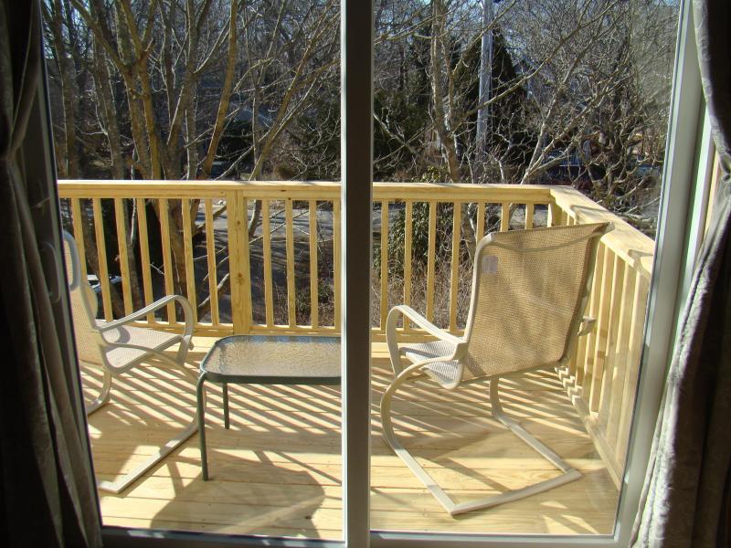 2nd Floor View Through Slider to Deck