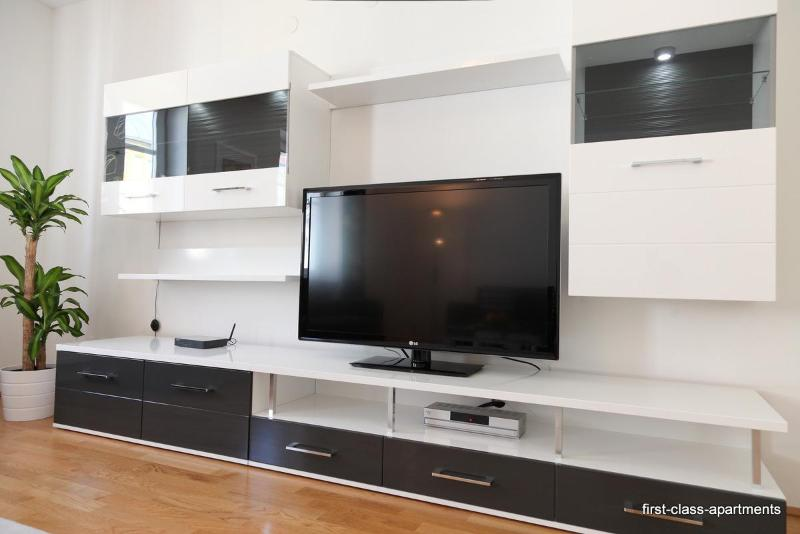a 47' big flat screen TV with many international channels for free