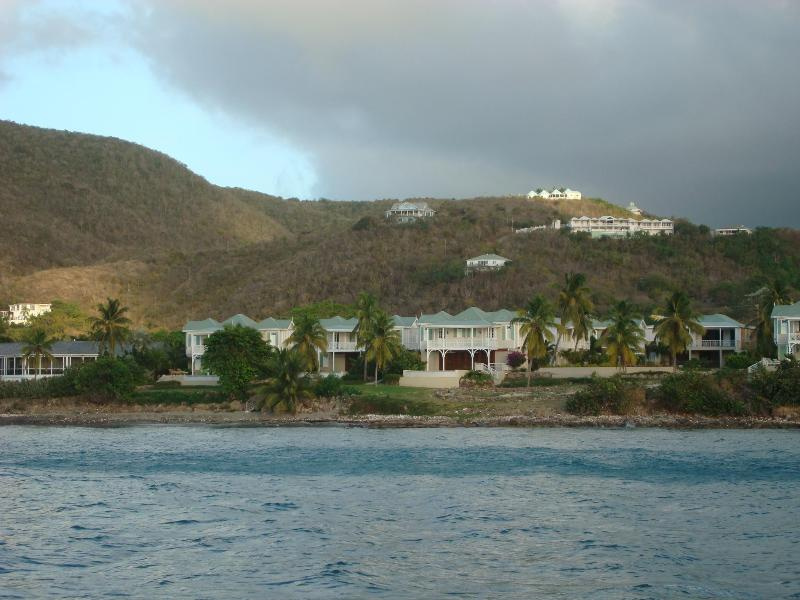 Castelet crowning the mountain top (the view from the ocean)