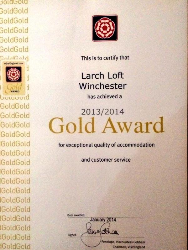 Visit Britain Gold Award 2014