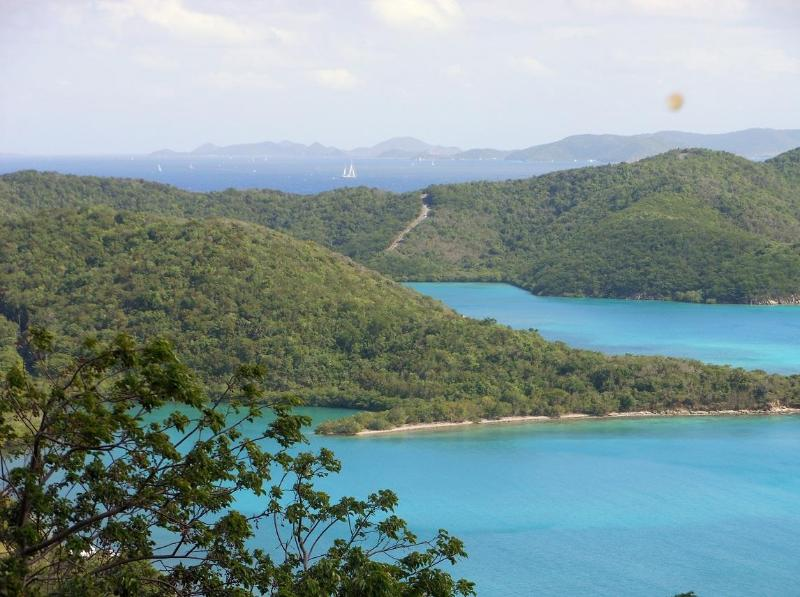 Stunning views of the Caribbean Sea, Hurricane Hole and the British Virgin Islands are the focus
