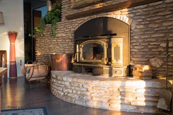 Living room fireplce wall