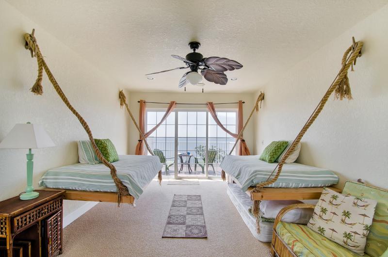Third floor loft with hanging beds!