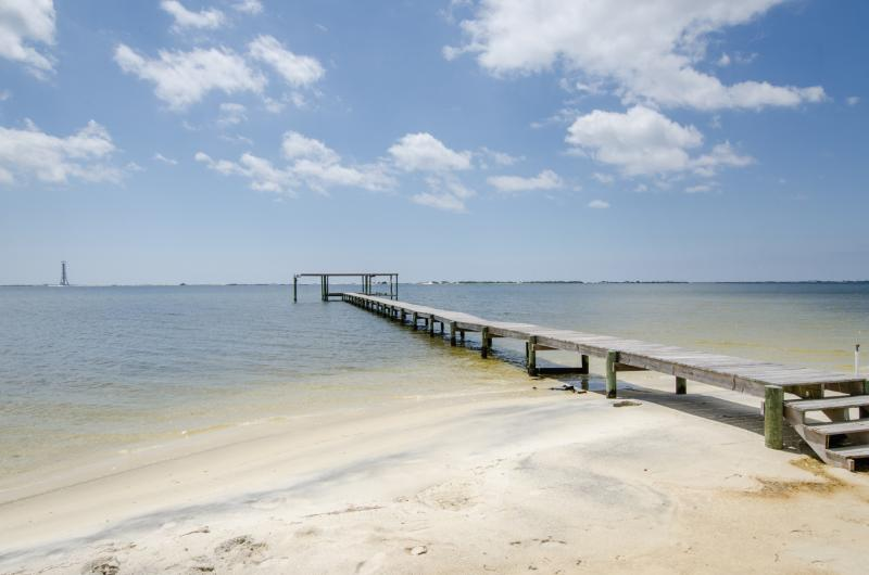 Our beach - calm, sandy, and shallow - perfect for kids!