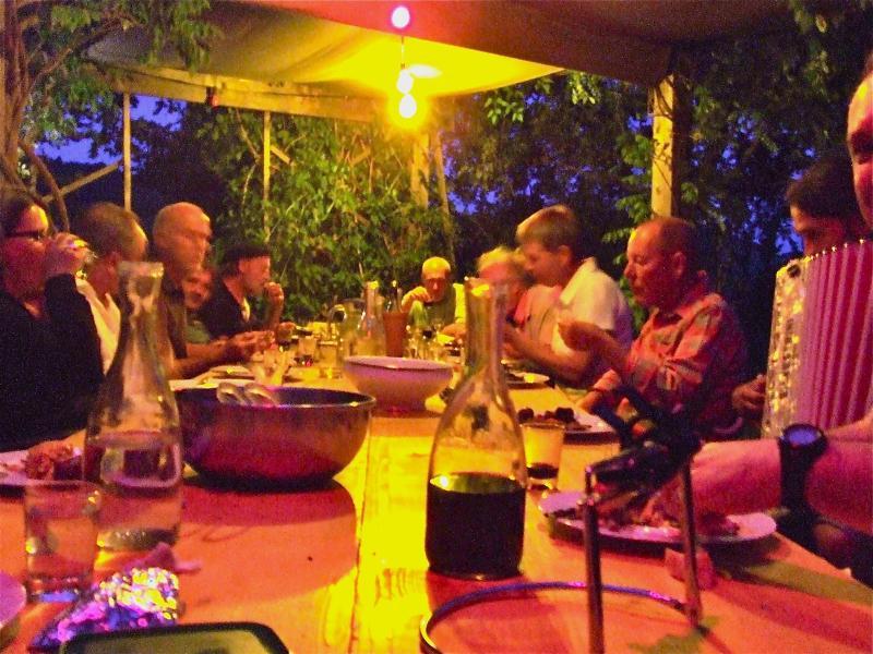 Mediterranean evening, hosts table