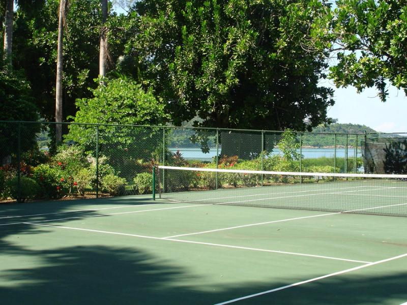Jugar al tenis con tus amigos o golpear con un pro...