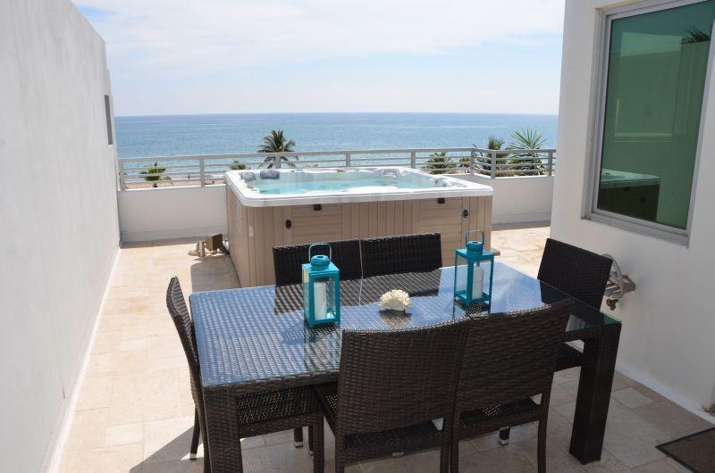 Spectacular Rooftop Terrace Offers Unobstructed Direct Ocean Views + Spa, Dining & Lounge Chairs...