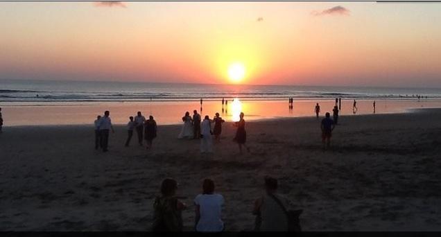 Beautiful sunset at PETITENGET Beach