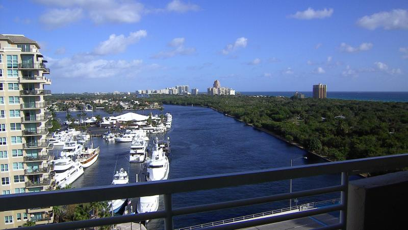 Sweeping views from 12th floor over the intracoastal and ocean.