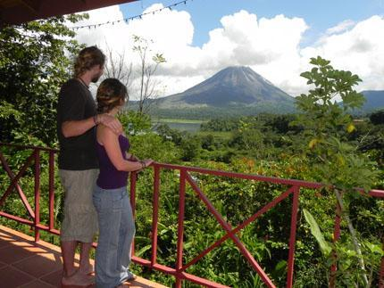Guests Enjoying a Volcano View